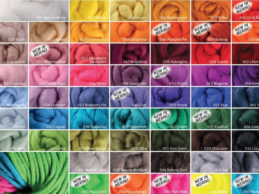 Ashford Fibre colours