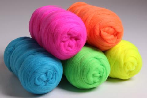 New Fluorescent Corriedale Colours