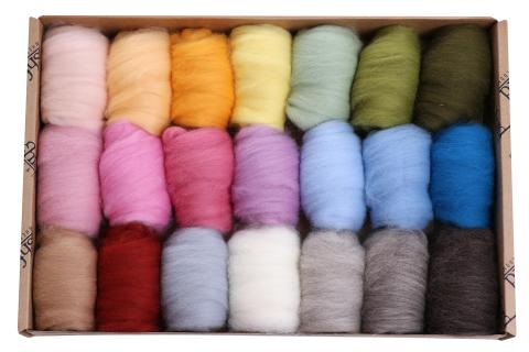 Fibre Sample Pack 1 - Corriedale Light