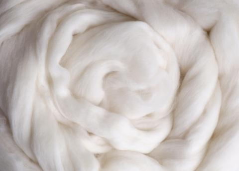 White Super Fine Merino Top - 19 Micron